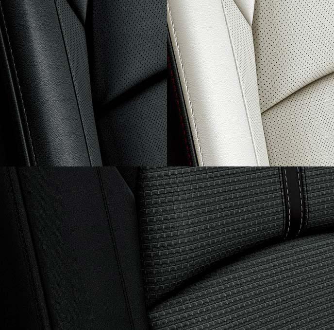 アクセラのクロスデザインのブラックシート
