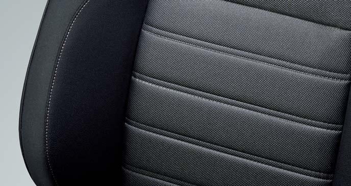 新型CR-Vのブラックのファブリックシート