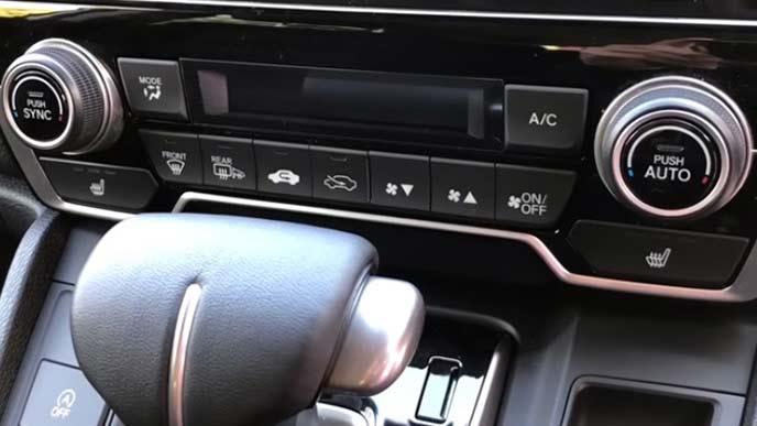 新型CR-Vの操作スイッチ