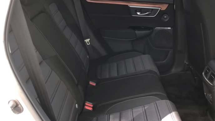 新型CR-Vのリヤシート