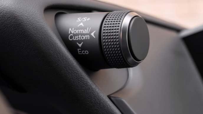 新型ESの走行モード切替スイッチ