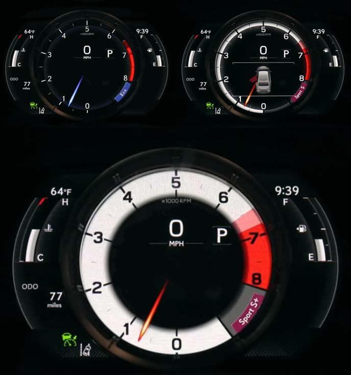 新型ESの走行モード連動メーター