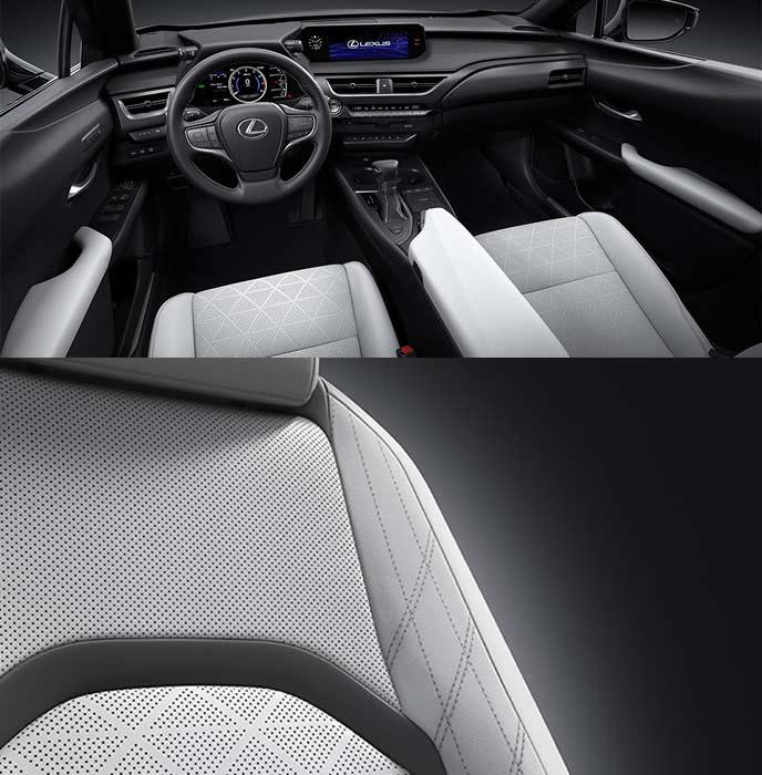 レクサス新型UXのグレー×ブラック内装