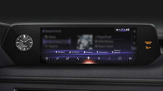 レクサス新型UXのナビゲーションディスプレイ