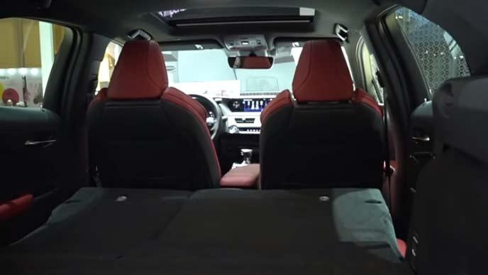 レクサス新型UXのラゲッジルーム