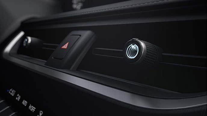 レクサス新型UXのエアコンレジスターノブ