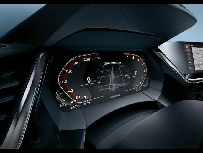 BMW新型Z4のセンターディスプレイ
