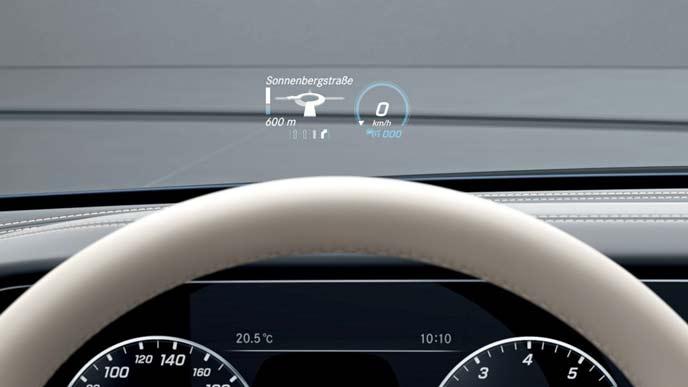 メルセデス・ベンツ新型CLSのヘッドアップディスプレイ
