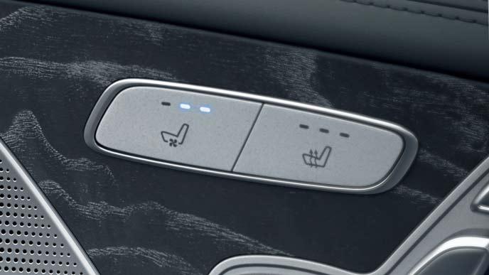 メルセデス・ベンツ新型CLSのシートベンチレーター