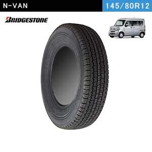 N-VANにおすすめのBRIDGESTONE W300 145/80R12 80/78N LTのスタッドレスタイヤ
