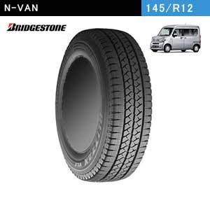 N-VANにおすすめのBRIDGESTONE BLIZZAK VL1 145/R12 6PRのスタッドレスタイヤ