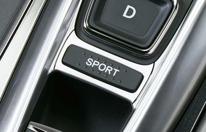新型アコードのスポーツモードスイッチ