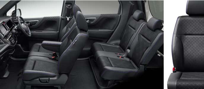 N-WGNカスタム特別仕様車のバイオレットデザインの内装