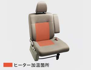 新型タントのシートヒーター