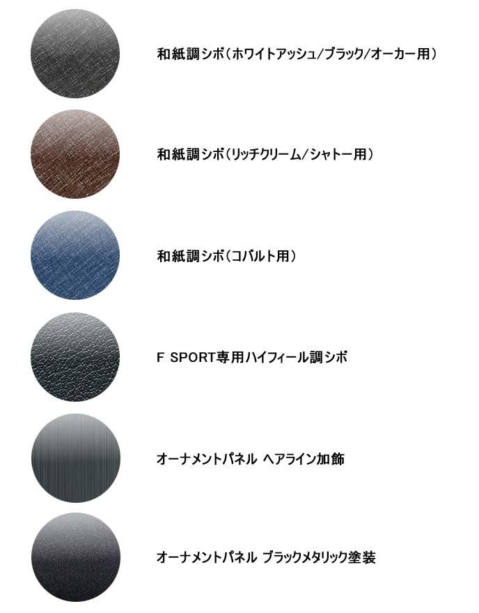 新型UXのインパネとオーナメントパネルカラー