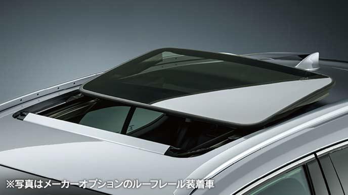 新型UXのチルト・アウタースライド式ムーンルーフ