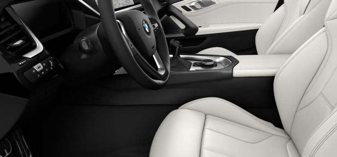 ヴァーネスカ・レザー・アイボリー・ホワイトの新型Z4のシート