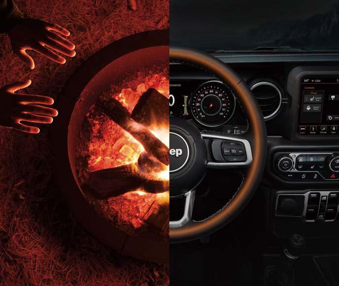 JLラングラーのシートヒーターとステアリングヒーター