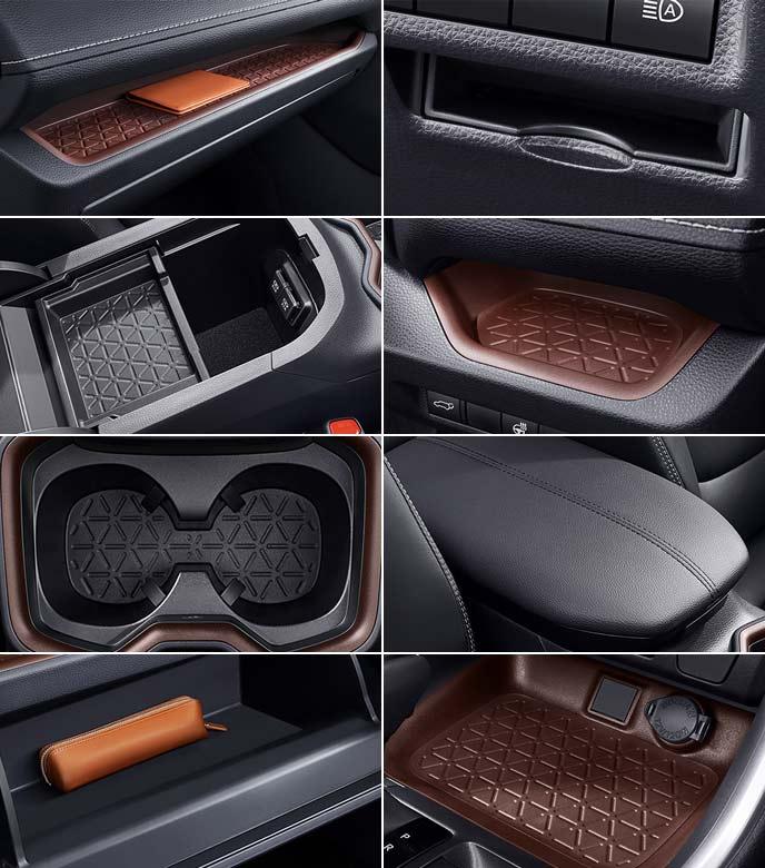 新型RAV4のフロントシート周りの収納