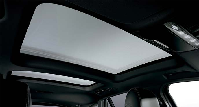 メルセデスベンツ限定車「GLS 220 d 4MATIC Laureus Sdition」のパノラミック スライディングルーフ