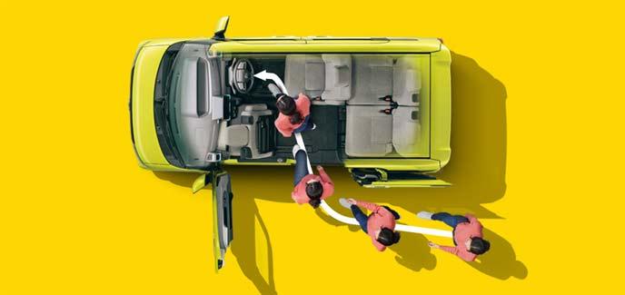新型タントの運転席ロングスライドシート
