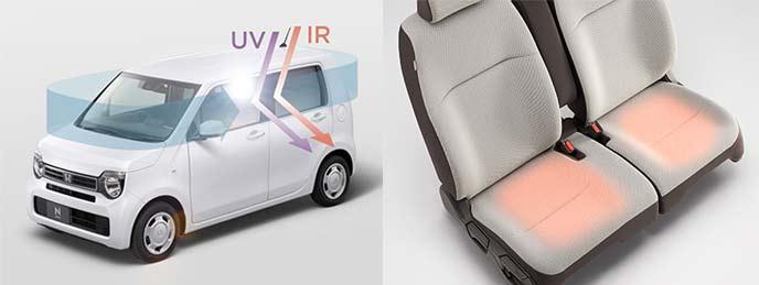 紫外線と赤外線を大幅にカット