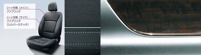 レガシィB4のブラックファブリックの内装