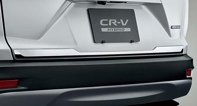 新型CR-Vのテールゲートガーニッシュ