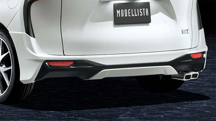 モデリスタ新型シエンタのリヤスカート