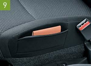 新型ソリオのサイドシートポケット