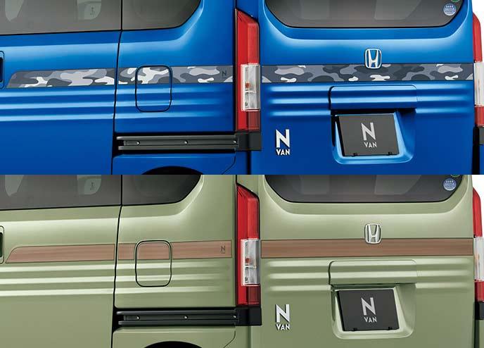 新型N-VANのカモフラージュ・ウッドデカール