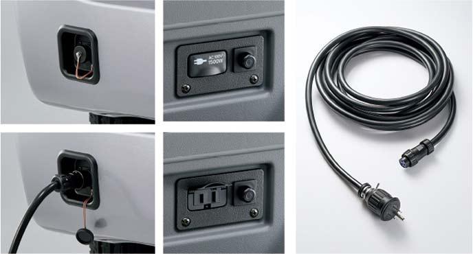 新型N-VANの外部電源キット