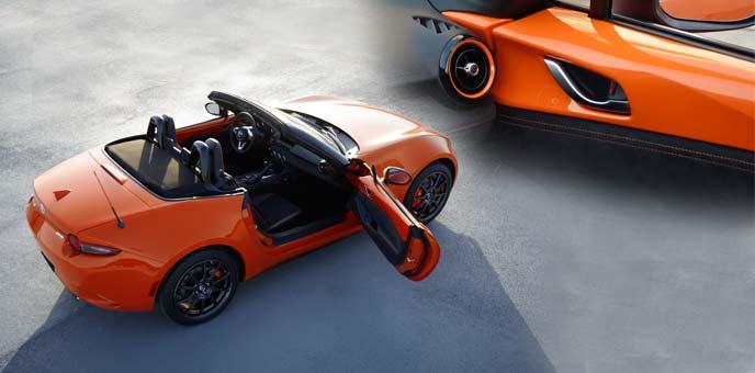 MX-5の特別仕様車「MAZDA MX-5 Miata 30th Anniversary Edition」の美しい朝焼けにインスパイアされたレーシングオレンジ