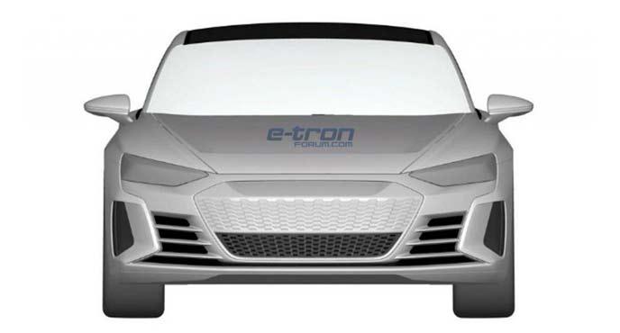 アウディ最新EVスポーツモデル「e-Tron GT」の特許画像