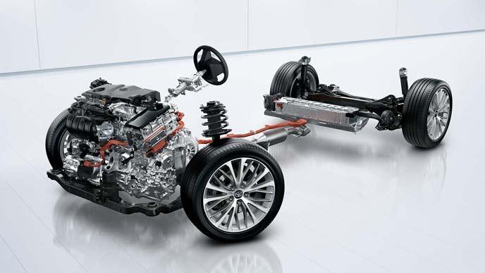 レクサスESとカムリに共通するダイナミックフォースエンジンとハイブリッドシステム