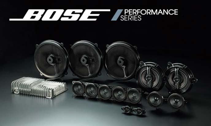 スカイラインのBOSE社のサウンドシステム