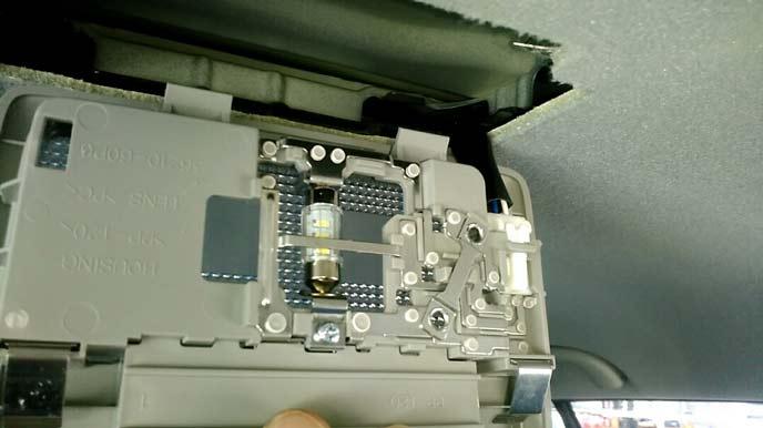 ルームランプの照射部分