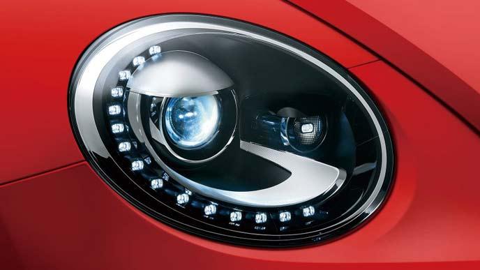 ザ・ビートル特別仕様車のバイキセノンヘッドライト