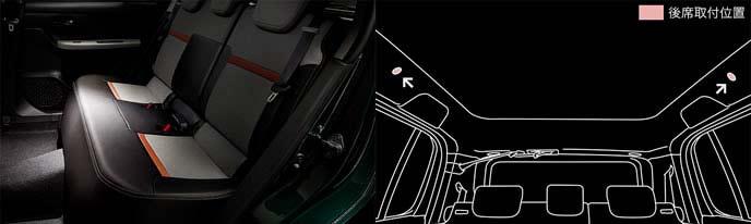新型パッソのリアシート用LEDルームランプ