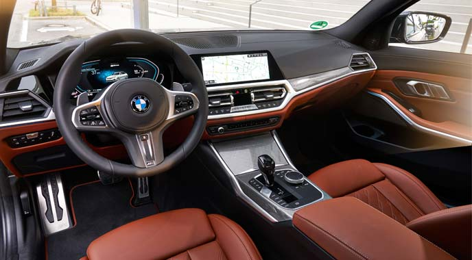BMW 330eのインテリア