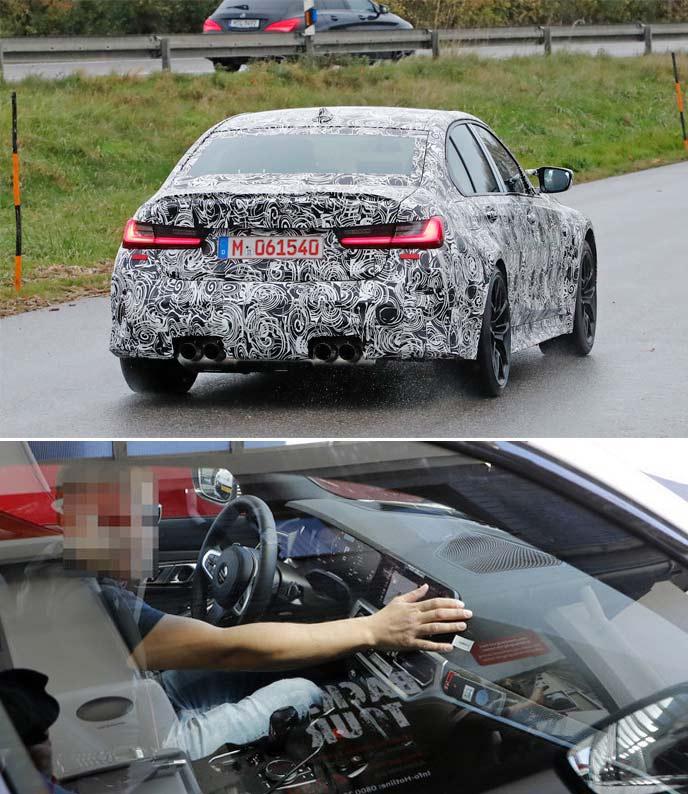 新型BMW M3の開発車両