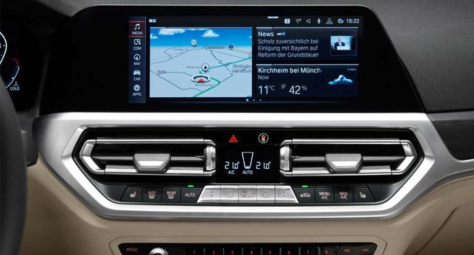 BMW新型「3シリーズ ツーリング」のインテリア