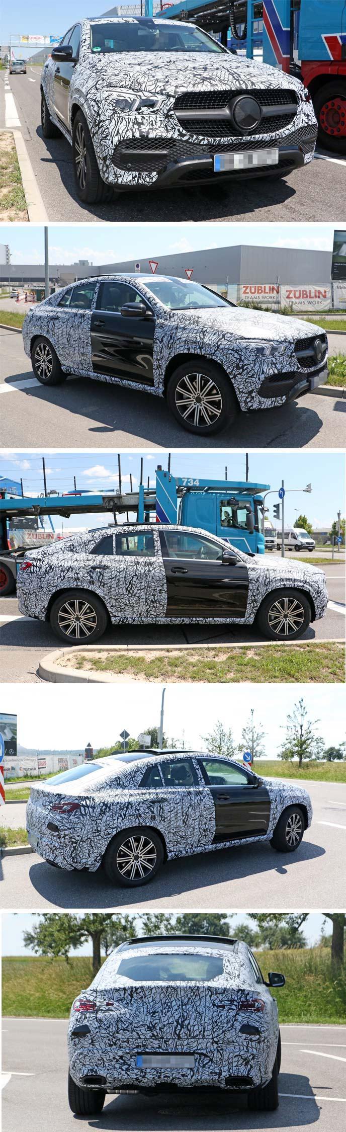 新型GLEクーペの開発車両
