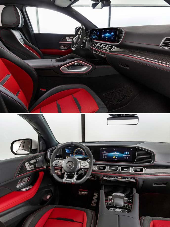 新型AMG GLE53のシート・コックピットイメージ