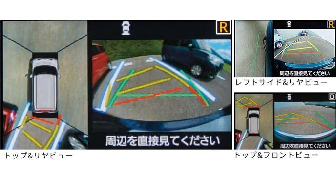 新型トールのパノラマモニター