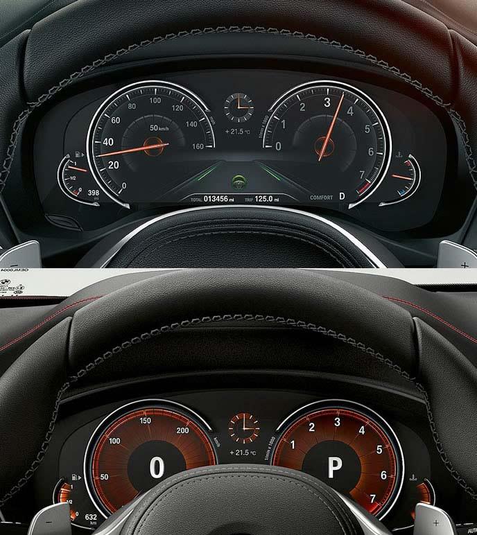 BMW X4のメーターパネル