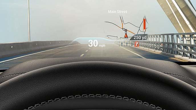 BMW X4のヘッドアップディスプレイ