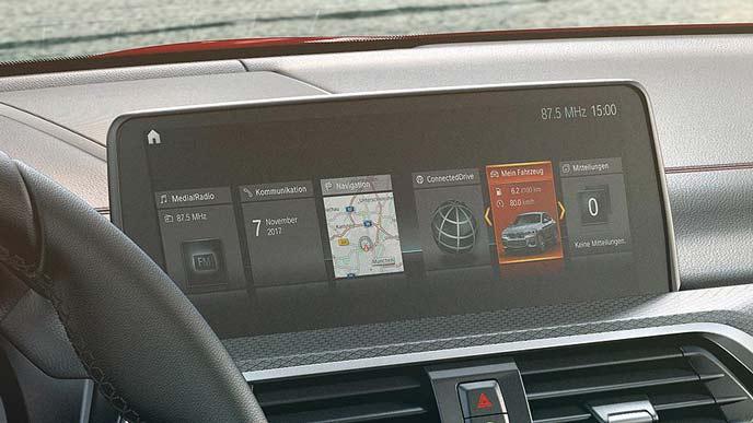 BMW X4のインフォテインメントシステム