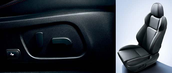 WRX S4の10ウェイパワーシートとレッドステッチ入り本革シート