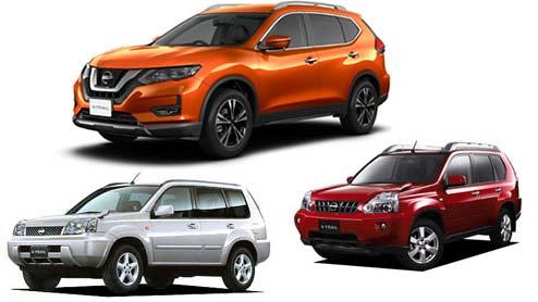 エクストレイルの純正タイヤサイズと純正ホイールサイズ~日産のミドルサイズSUVの全型式一覧表